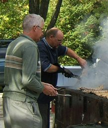 Men barbecuing at Cargill Rib Fest