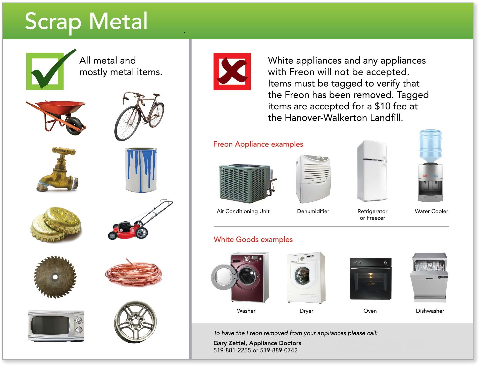 accepted scrap metal items