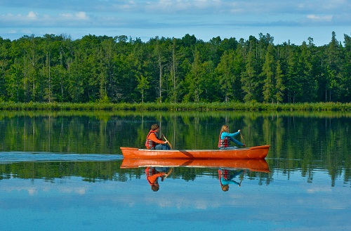 Canoeing on Schmidt Lake, Greenock Swamp Wetland Complex